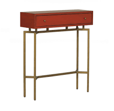 ming red lacquer console table