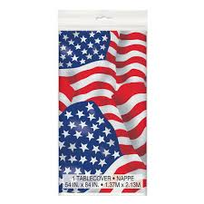 Us Flag Facts Plastic Us American Flag Tablecloth 7ft X 4 5ft Amazon Co Uk