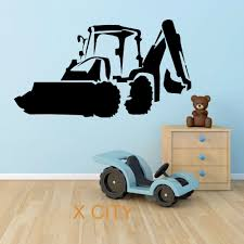aliexpress com buy jcb digger excavator wall art sticker vinyl aliexpress com buy jcb digger excavator wall art sticker vinyl transfer decal door window for children kids room stencil mural decoration from reliable