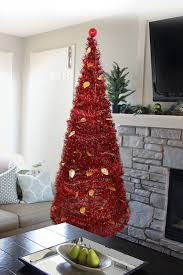 christmas tree tinsel christmas tree 5 collapsible pop up tinsel metallic cone modern