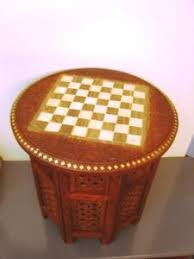 chess board coffee table chess board round table carved inlaid work coffee table foldable art