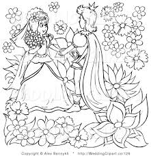 marriage clipart wedding black white thumbelina wedding