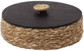 basket beige black removable top lid cover handmade in round basket beige black removable top lid cover handmade in sabai grass mdf holders organizers home decor buy in bulk wholesale