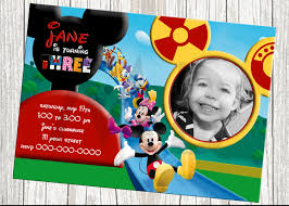Create 1st Birthday Invitation Card For Free Mickey Mouse Clubhouse 1st Birthday Invitations Plumegiant Com