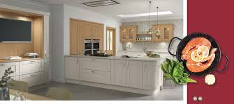 The Kitchen Collection Uk Cambridge Mussel Oak Kitchens The On Trend Kitchen Collection