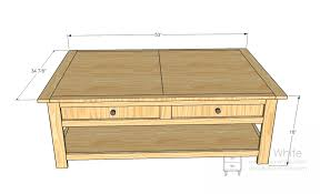 Wood Coffee Table Plans Free by Ana White Mom U0027s Train Table Diy Projects