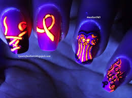 halloween breast cancer ribbon background 365 days of nail art october 2014