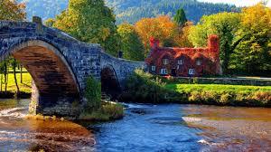 Cottage Houses Houses Cozy Cottage Paintings Fall Seasons Bridges Creek Love