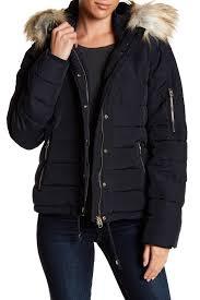 topshop faux fur trim quilted puffer jacket nordstrom rack
