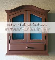 A Curio Cabinet Makeover with Chalky Finish Paint Dukes and