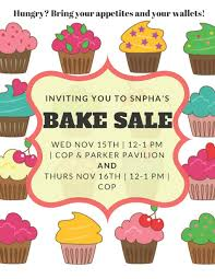 snpha fall donation bake sale university in maine
