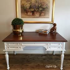 painting a desk white lilyfield life a huge big desk gets a new life