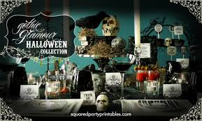 halloween party ideas diy halloween printable decor goth glam halloween party collection