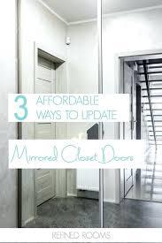 Updating Closet Doors Floor To Ceiling Closet Doors Got Outdated Mirrored Closet Doors
