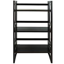 32 Inch Wide Bookcase Amazon Com Casual Home 3 Shelf Folding Student Bookcase 20 75