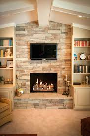 stacked stone fireplace decorating ideas mantel for spring image