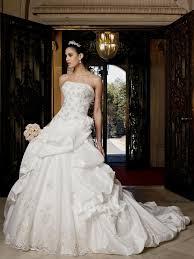 Ball Gown Wedding Dresses Uk Strapless Beaded Ball Gown Wedding Dress Naf Dresses