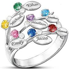 day rings personalized family rings for 10 personalized rings will tree