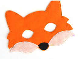 halloween fox kids fox mask fox costume felt mask kids face mask animal