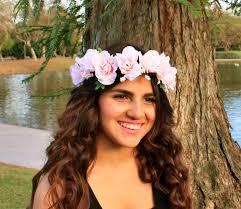 festival headbands pink flower crown adjustable flower headband flower girl