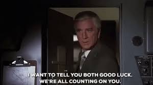 leslie nielsen good luck gif find share on giphy
