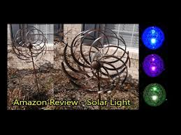 wind spinners with led lights amazon review solar wind spinner led light solar powered youtube