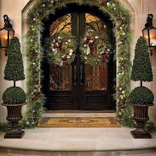Christmas Yard Decorations Frontgate by Outdoor Christmas Garlands U2013 Happy Holidays
