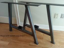 A Frame Kit by Abrufen Metal Table Legs Etsy Bases For Wood Tops Metal Table Base