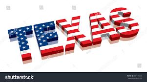 American Flag In Text 3d Texas American Flag Word Text Stock Vektorgrafik 387146995