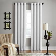 grand luxe 100 percent linen gotham grommet top curtain panel