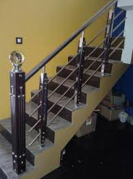 stainless steel staircase railing upstart solutions bengaluru