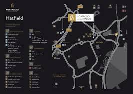 Nike Map Hatfield Portfolio Serviced Appartments