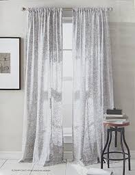 Silver Window Curtains Dkny Set Of 2 Window Curtains Panels 50 By 96 Inch