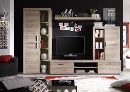Wohnzimmerschrank Ohne Tv Fach Trendteam Hv97790 Wohnzimmerschrank Wohnwand Anbauwand Eiche San