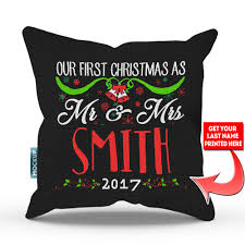 personalized our as mr and mrs throw pillow