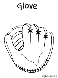 baseball glove coloring pages getcoloringpages com
