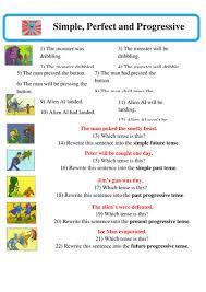 super grammar perfect simple and progressive tenses spag by