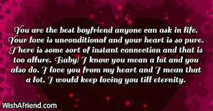you are the best boyfriend anyone love letters for him