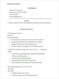 Sample Of Banking Resume by Accounting Resume Template U2013 11 Free Samples Examples Format