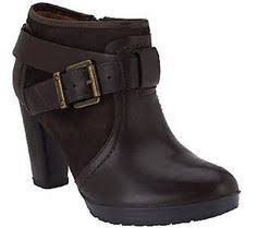 clarks womens boots qvc yuu yuu simona wedge buckled womens boots ad fashion finds
