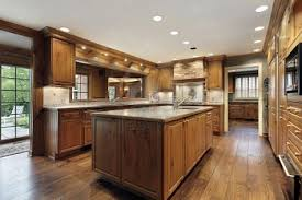 traditional kitchen ideas with wooden materials and lighting 878