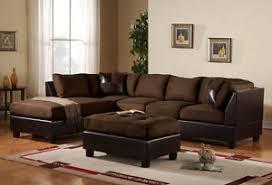 Black Microfiber Sectional Sofa Microfiber Sectional Chaise Ebay