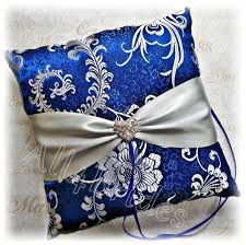 royal blue and silver wedding royal blue and silver wedding ring pillow blue and grey ring
