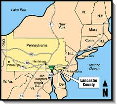map of lancaster pa the of amish country