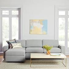 Small Chaise Urban 2 Piece Chaise Sectional Small West Elm