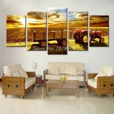 online get cheap harvest art aliexpress com alibaba group 5 pieces drop shipping wall canvas painting for living room harvester colorful clouds home decor wall