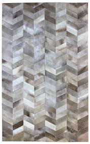 Grey Area Rug Rugs Curtains Modern Cowhide Herringbone Area Rug For