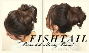 long hairstyle tutorial messy braided bun