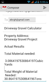 Yard Calculator Gravel Driveway Gravel Calculator Android Apps On Google Play
