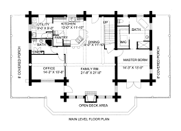 floor log cabin plan loft one bedroom with plans small home design
